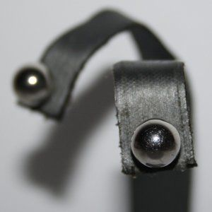 Vintage silver post ball earrings